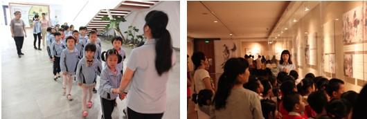 今天莞城中心幼儿园和艺鸣幼儿园的小朋友都来了莞城美术馆上