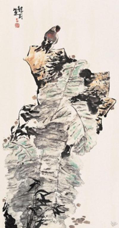 芭蕉树国画小品