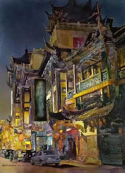 他笔下的中国古建筑